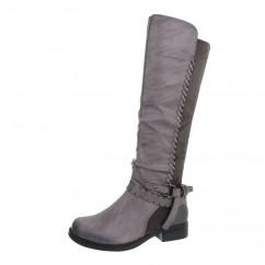 Visoki sivi škornji 601