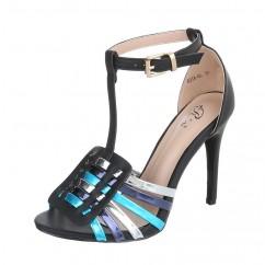 Črni sandali z modro 78