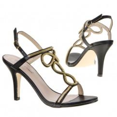 Črni sandali z zlato 32