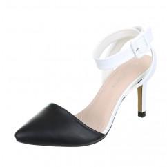Črno beli sandali 45