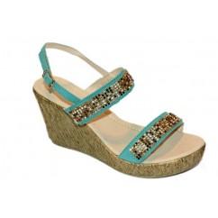 Zeleni sandali s kamenčki 185