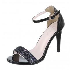 Črni sandali z bleščicami 700